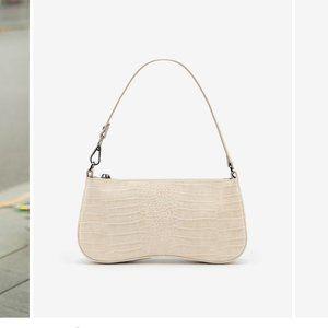JW PEI Eva Shoulder Bag- White Croc